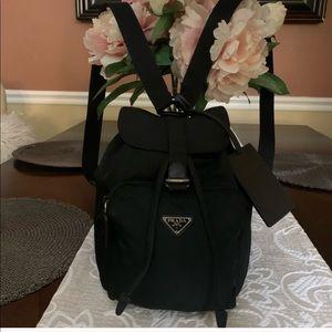 Mini PRADA Backpack with PRADA Luggage tag